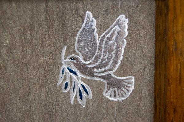 Каменная Картина Оммаж духовному дому отца Шагала № 01 (гравированная), изображение, фото 8