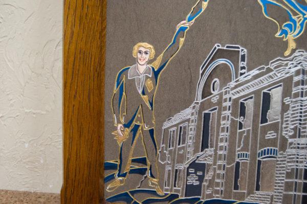Каменная Картина Оммаж духовному дому отца Шагала № 01 (гравированная), изображение, фото 10