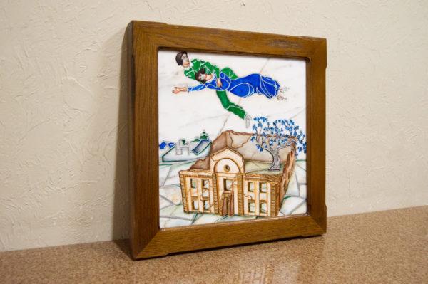 Каменная Картина Оммаж картине Шагала Над городом № 01, изображение, фото 3