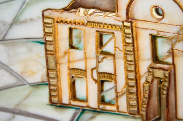 Каменная Картина Оммаж картине Шагала Над городом № 01, изображение, фото 8
