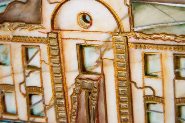 Каменная Картина Оммаж картине Шагала Над городом № 01, изображение, фото 9