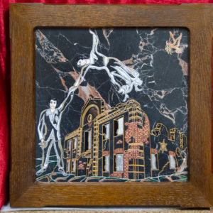 Каменная Картина Оммаж духовному дому отца Шагала № 02 (гравированная), изображение, фото 1
