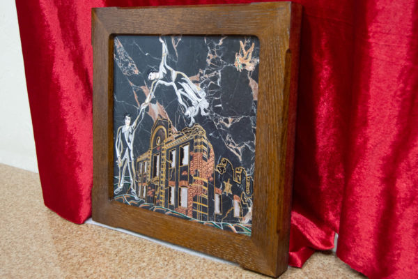 Каменная Картина Оммаж духовному дому отца Шагала № 02 (гравированная), изображение, фото 2