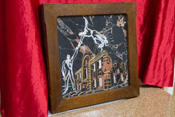Каменная Картина Оммаж духовному дому отца Шагала № 02 (гравированная), изображение, фото 3