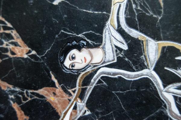 Каменная Картина Оммаж духовному дому отца Шагала № 02 (гравированная), изображение, фото 5