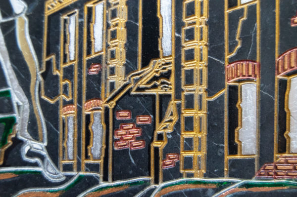 Каменная Картина Оммаж духовному дому отца Шагала № 02 (гравированная), изображение, фото 6