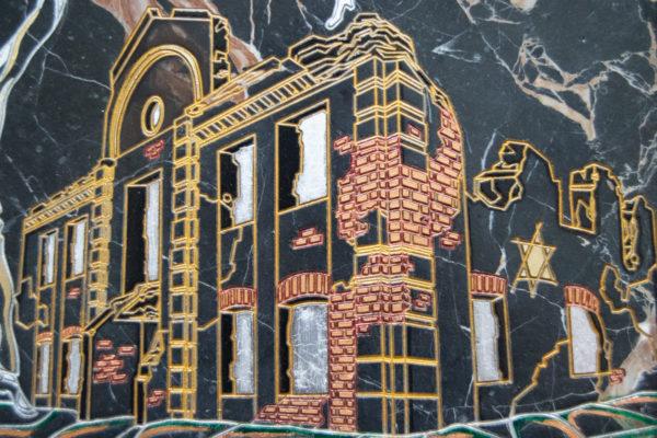 Каменная Картина Оммаж духовному дому отца Шагала № 02 (гравированная), изображение, фото 7