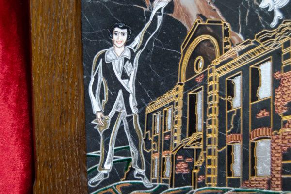 Каменная Картина Оммаж духовному дому отца Шагала № 02 (гравированная), изображение, фото 8
