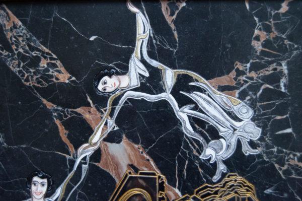 Каменная Картина Оммаж духовному дому отца Шагала № 02 (гравированная), изображение, фото 9