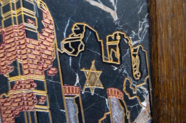 Каменная Картина Оммаж духовному дому отца Шагала № 02 (гравированная), изображение, фото 10