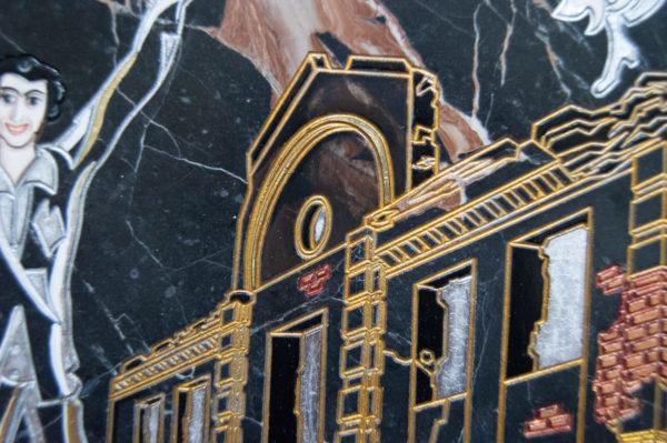 Каменная Картина Оммаж духовному дому отца Шагала № 02 (гравированная), изображение, фото 11