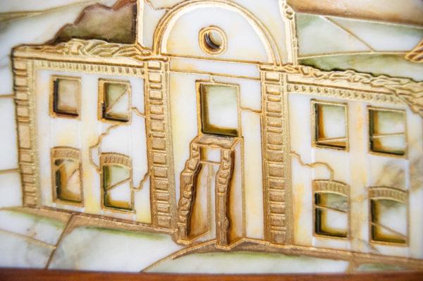 Каменная Картина Оммаж картине Шагала Над городом № 02, изображение, фото 5