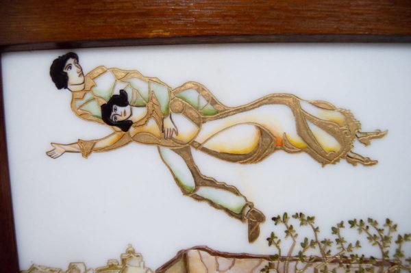 Каменная Картина Оммаж картине Шагала Над городом № 02, изображение, фото 7