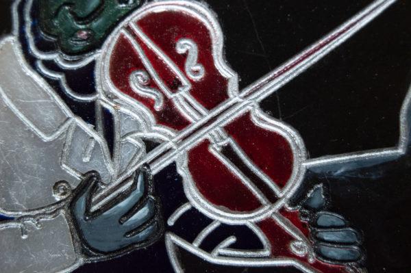 Каменная Картина Оммаж картине Шагала Уличный скрипач № 01, изображение, фото 8