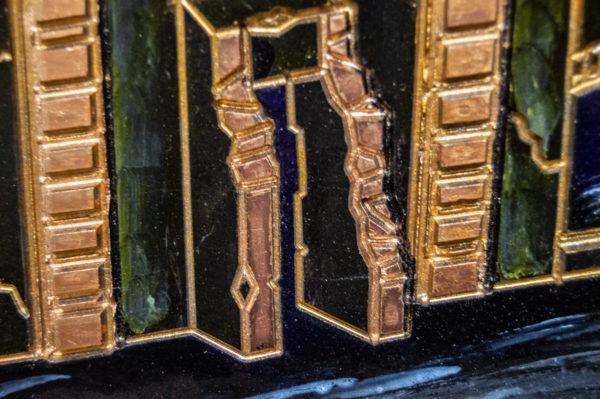 Каменная Картина Оммаж картине Шагала Уличный скрипач № 01, изображение, фото 9