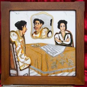 Каменная Картина Автопортрет в зеркале № 01, изображение, фото 1