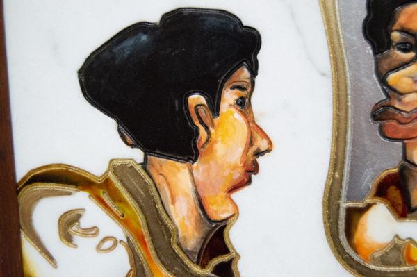 Каменная Картина Автопортрет в зеркале № 01, изображение, фото 4