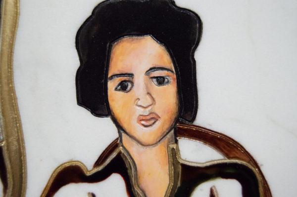 Каменная Картина Автопортрет в зеркале № 01, изображение, фото 6
