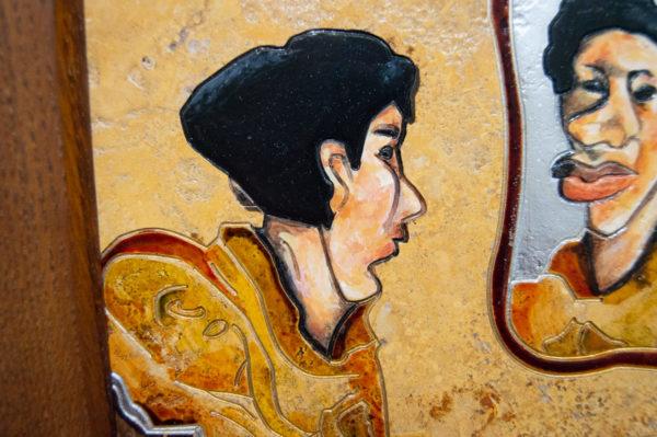 Каменная Картина Автопортрет в зеркале № 02 (Сутин), изображение, фото 5