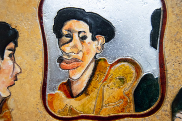 Каменная Картина Автопортрет в зеркале № 02 (Сутин), изображение, фото 6