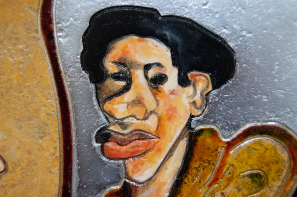 Каменная Картина Автопортрет в зеркале № 02 (Сутин), изображение, фото 7