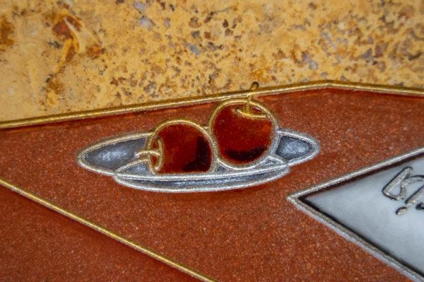 Каменная Картина Автопортрет в зеркале № 02 (Сутин), изображение, фото 8