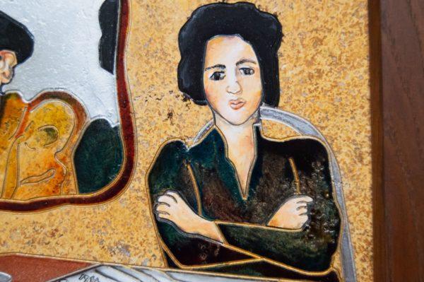 Каменная Картина Автопортрет в зеркале № 02 (Сутин), изображение, фото 9