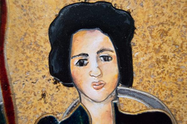 Каменная Картина Автопортрет в зеркале № 02 (Сутин), изображение, фото 10