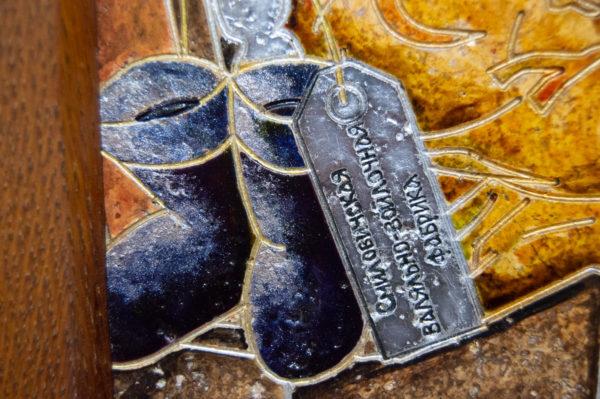 Каменная Картина Автопортрет в зеркале № 02 (Сутин), изображение, фото 14