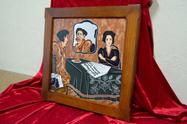 Каменная Картина Автопортрет в зеркале № 03 (Сутин), изображение, фото 2