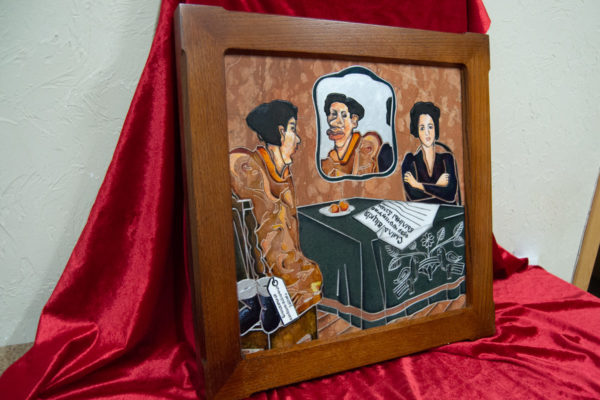 Каменная Картина Автопортрет в зеркале № 03 (Сутин), изображение, фото 3