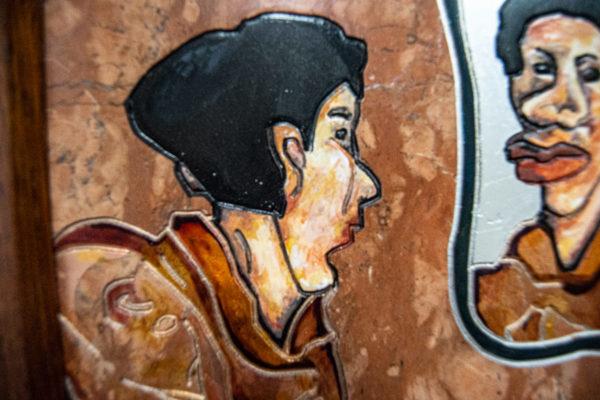 Каменная Картина Автопортрет в зеркале № 03 (Сутин), изображение, фото 5