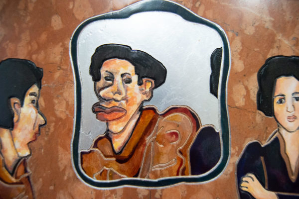 Каменная Картина Автопортрет в зеркале № 03 (Сутин), изображение, фото 6