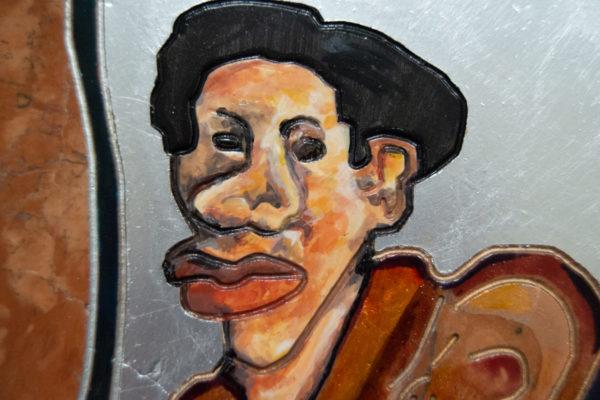 Каменная Картина Автопортрет в зеркале № 03 (Сутин), изображение, фото 7