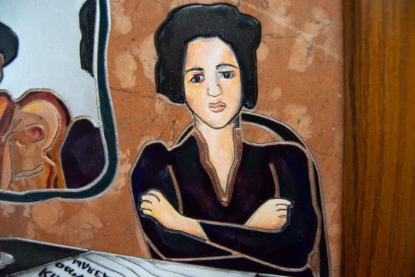 Каменная Картина Автопортрет в зеркале № 03 (Сутин), изображение, фото 13