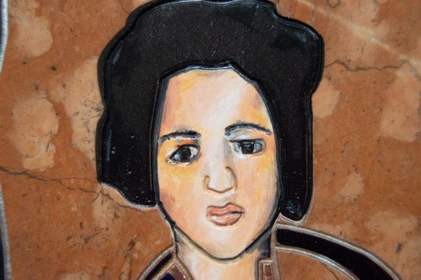 Каменная Картина Автопортрет в зеркале № 03 (Сутин), изображение, фото 14