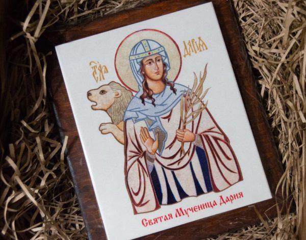 Сувенир Икона Святой Дарии № 01 на мраморе, каталог икон, фото 1