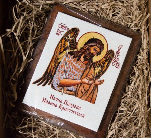 Сувенир Икона Святого Иоанна № 01 на мраморе, каталог икон, фото 1