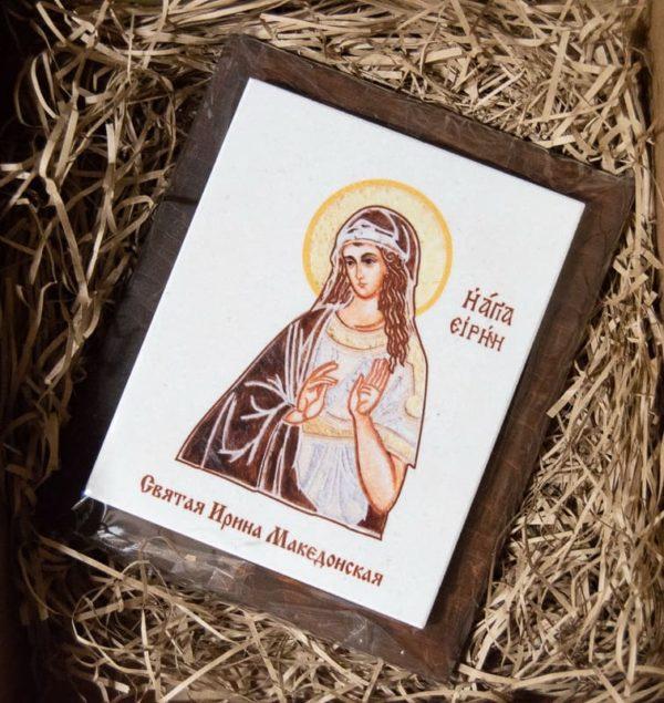 Сувенир Икона Святой Ирины Македонской № 02 на мраморе, фото 1