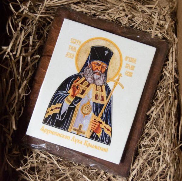 Икона Луки Крымского № 01 на мраморе, сувенир, каталог икон, фото 2