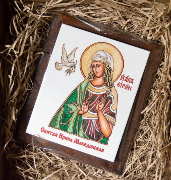 Сувенир Икона Святой Ирина Македонской № 01 на мраморе, фото 1