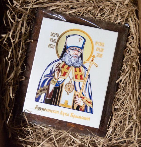 Икона Луки Крымского № 02 на мраморе, сувенир, каталог икон, фото 4