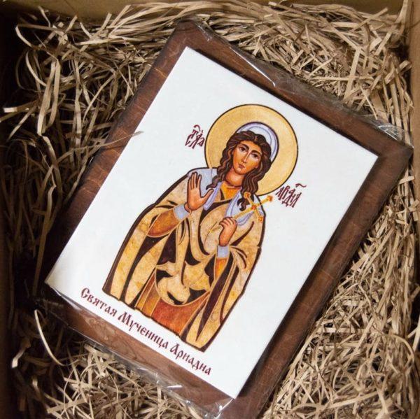 Сувенир Икона Святой Ариадны № 01 на мраморе, каталог икон, фото 4