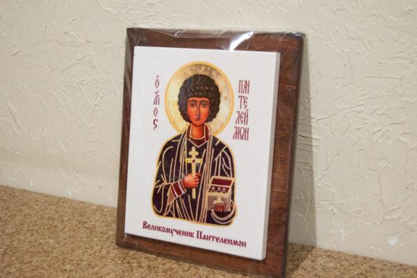 Сувенир Икона Святой Пантелеймон № 01 на мраморе, фото 4
