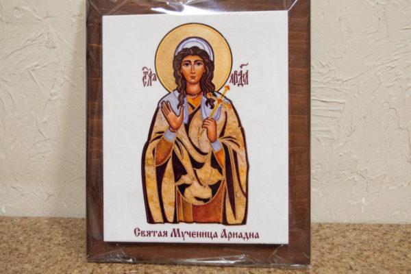 Сувенир Икона Святой Ариадны № 01 на мраморе, каталог икон, фото 3