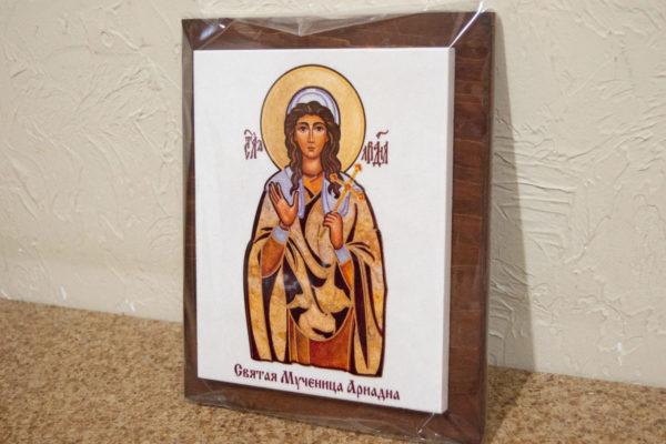Сувенир Икона Святой Ариадны № 01 на мраморе, каталог икон, фото 2