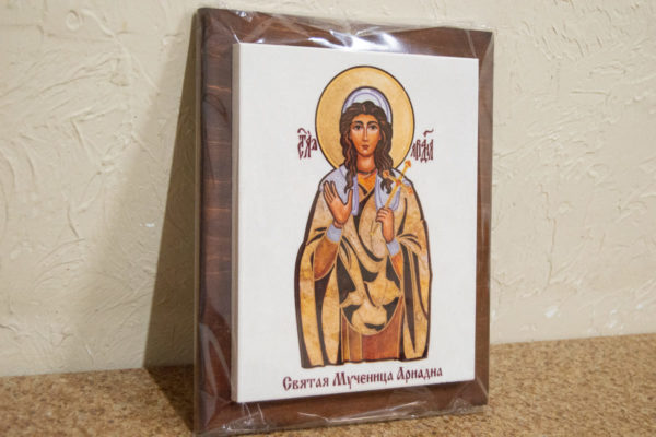 Сувенир Икона Святой Ариадны № 01 на мраморе, каталог икон, фото 1