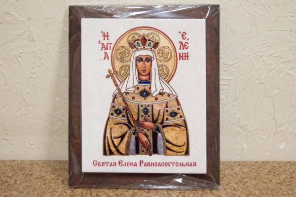 Сувенир Икона Святой Елена № 01 на мраморе, каталог икон, фото 2