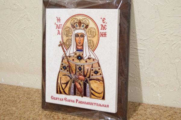 Сувенир Икона Святой Елена № 01 на мраморе, каталог икон, фото 3