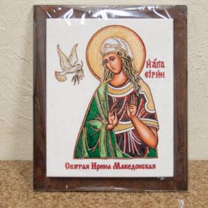 Сувенир Икона Святой Ирина Македонской № 01 на мраморе, фото 2
